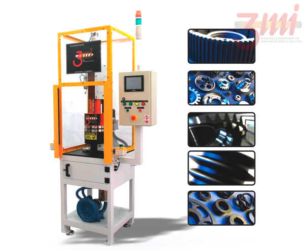 Maquina aquecedor de engrenagens por fluxo magnético